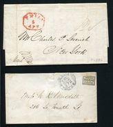 UNITED STATES AMERICA PHILADELPHIA 1836 AND BLOODS POST COTTON - Postal History