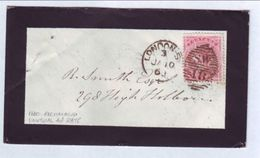 GB 1860 'RICHMOND' MOURNING COVER UNUSUAL RATE - 1840-1901 (Victoria)