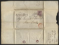 GB 1868 ENTIRE LIVERPOOL TO NEW YORK - Postmark Collection