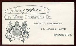 MANCHESTER ADVERTISING ENVELOPE - Postmark Collection