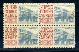 MEXICO RARE 1953 20 PESOS BLOCK - Mexico