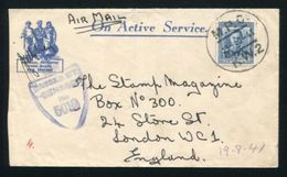 NEW ZEALAND FORCES WORLD WAR TWO 1941 CENSOR TO LONDON - New Zealand