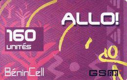 Benin 160 Units Allo BeninCell GSM Recharge Phonecard, Used - Benin