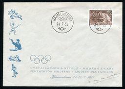 FINLAND OLYMPICS 1952 PENTATHLON RARE COVER - Olympic Games