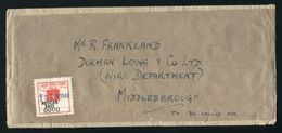 KING GEORGE 6TH WW2 RAILWAY LETTER REDCAR EAST TO MIDDLESBROUGH - 1902-1951 (Kings)