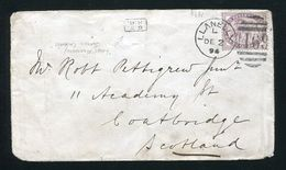 GB RAILWAYS QUEEN VICTORIA SCOTLAND NIGHT UP WALES TRAVELLING POST OFFICE 1894 - 1840-1901 (Victoria)