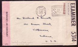 IRELAND 1943 BRITISH/IRISH CENSOR LABELS COVER - Unclassified