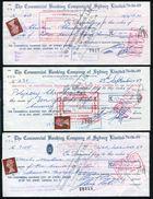 CYPRUS GB AUSTRALIA STAMP DUTY CHEQUES - Cyprus (...-1960)