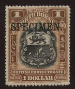 NORTH BORNEO 1911 $1 OVERPRINTED SPECIMEN - North Borneo (...-1963)