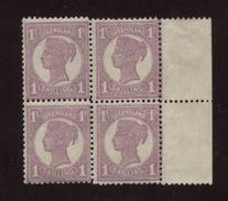 AUSTRALIA/QUEENSLAND 1897 1/- BLOCK-MNH! - 1860-1909 Queensland