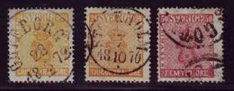 SWEDEN 1858-72 24o AND 50o - Sweden