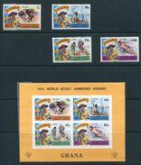 GHANA SCOUT SAMBOREE IMPERF NORWAY 1975 - Gold Coast (...-1957)