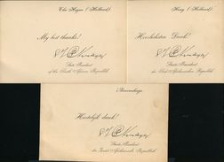 PRESIDENT KRUGER SOUTH AFRICA CARTES DE VISIT HAGUE HOLLAND - Other Collections