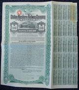 CHILE RAILWAY DEBENTURE SHARE CERTIFICATE RAILWAY BRADBURY WILKINSON 1908 - Chile