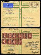 GB PALESTINE WW2 ACTIVE SERVICE ENVELOPES - Palestine