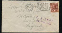 USA SAN FRANCISCO GB USED ABROAD PAQUEBOT SHIPPING HOSKING 1924 - United States