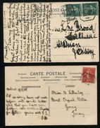 CHANNEL ISLANDS GREAT BRITAIN FRANCE MOBILE BOX 1908/09 GRANVILLE MARITIME - Europe (Other)