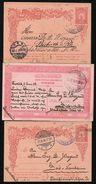 OTTOMAN YUGOSLAVIA RAILWAY STATION POSTAL STATIONERY GERMANY 1906/9 - Unclassified