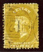 CEYLON/ADEN 1867-70 2d BISTRE - Aden (1854-1963)