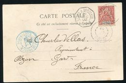 MARTINIQUE FRENCH WEST INDIES RARE POSTMARK VAUCLIN MAILBOAT 1902 - Europe (Other)