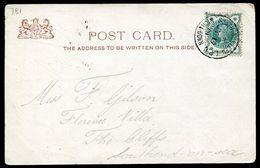 GREAT BRITAIN RAILWAY SOUTH WEST TPO DOWN WATERLOO AUSTRALIA ROYAL VISIT 1901 - Postmark Collection