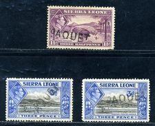 SIERRA LEONE KG6 FRENCH MARITIME - Sierra Leone (...-1960)