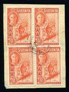SARAWAK BINATANG POSTMARK KG6 - Sarawak (...-1963)