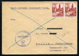POLAND GERMAN OCCUPATION WW2 EAGLE DIENSTPOST - Poland