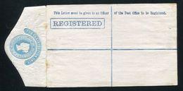 GB VICTORIA STATIONERY REGISTERED ENVELOPE FIRST DESIGN 1877 - 1840-1901 (Victoria)