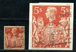 GB KGVI 1939 5s RED - 1902-1951 (Kings)
