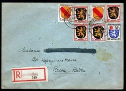 BADEN-BADEN, GERMANY - FRENCH ZONE REGISTERED COVER - Germany