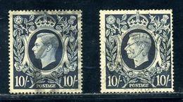 GB KGVI 1939 10s DARK BLUE - 1902-1951 (Kings)
