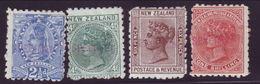 NEW ZEALAND 1882-92 SPECIMEN OVERPRINTS - New Zealand