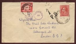 JAMAICA RARE TAX MARK AND GB POSTAGE DUE 1932 - Jamaica (...-1961)