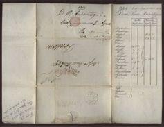 SPAIN/CADIZ TO LONDON 1833/50 LETTERS - Spain
