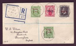 NIUE 1918 REGISTERED COVER TO UK - Niue