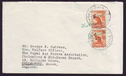 ROYAL AIR FORCE IN PAPUA AND NEW GUINEA COVER 1948 - Postmark Collection