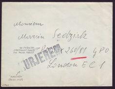 "POLAND WW11 COVER TO ""UNDERCOVER"" ADDRESS - Poland"
