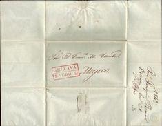 MEXICO 1843 'ORIZAVA' ENTIRE - Mexico