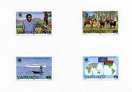 VANUATU PRINTERS PROOFS 1983 COMMONWEALTH DAY-ENSCHEDE - Vanuatu (1980-...)