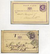GB QUEEN VICTORIA ½d POSTCARDS 1872/1876 - Postmark Collection