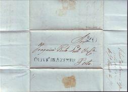 "PORTUGAL 1842 ""20 Reis""  ENTIRE TO PORTO - Portugal"