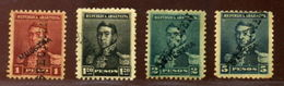 ARGENTINA 1892 SAN MARTIN SPECIMENS FROM BRITISH POST OFFICE - Argentina