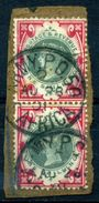 GB BOERWAR QV 1 SHILLING PAIR USED IN SOUTH AFRICA - 1840-1901 (Victoria)