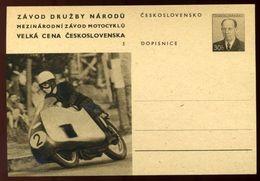 CZECH REPUBLIC MOTORCYCLE CARD 1956 - Czech Republic