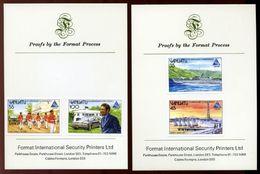 VANUATU PRINTERS PROOFS 1985 5th ANN OF INDEPENDENCE - Vanuatu (1980-...)