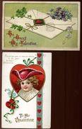 USA VALENTINES CARDS 1910 - Postal History