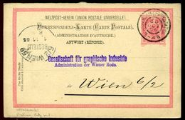 AUSTRIA STATIONERY CARD NETHERLANDS RAILWAY PO 1905 - Austria