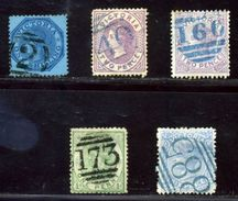 VICTORIA AUSTRALIA QV NUMERAL POSTMARKS - 1850-1912 Victoria