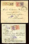 ROMANIA IASI/SASSY PAIR REGISTERED COVERS - Romania